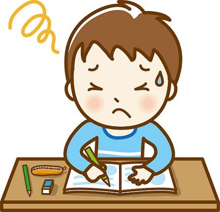 勉強についていけない子供