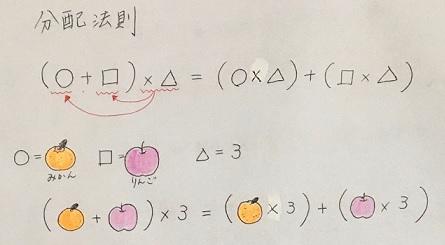 分配法則の図